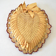 Gorgeous Victorian Heart Shaped Pin Cushion Pillow