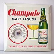 Vintage Advertising Thermometer Champale Malt Liquor