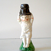 Antique Porcelain Staffordshire Figural Whistle