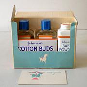 1950s  Johnson's Baby Items  In Original Gift Box