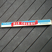 SALE Scarce Old Colony Beverages Soda Pop Door Push