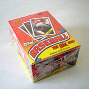 Sealed Bubble Gum Wax Pack Box 1988 Topps Baseball