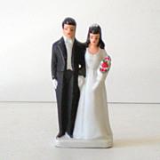SOLD Vintage Wedding Cake Topper Bride and Groom