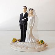 Vintage 1940s Chalkware Wedding Cake Topper