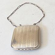 Art Deco Powder Rouge Compact Chain Handle