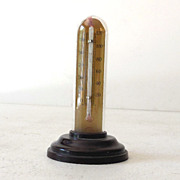 Advertising Thermometer in Glass Dome Bakelite Base