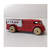 Small 1930s Cast Metal Toy Delivery Truck