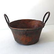 Primitive Hand Forged Copper Pot