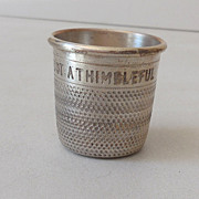 Pre Prohibition Silver Plated Shot Glass England