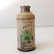 Vintage Watkins Talcum Powder Sample Size Tin