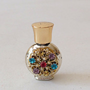 Vintage Miniature Jeweled Perfume Bottle