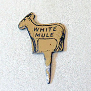 Tin Advertising White Mule Tobacco Plug