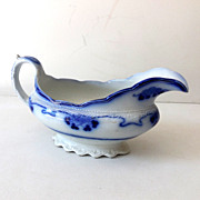 Gorgeous Flow Blue Gravy Boat Lorne Pattern By Grindley