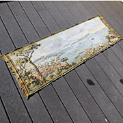 Large Vintage 1930s Woven Tapestry Scene