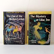 (2) Nancy Drew HB Mystery Books 1961 & 1965