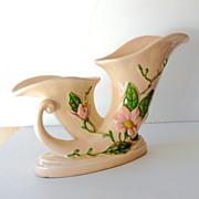 SALE Unusual Large  Hull Pottery Double Vase