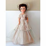 """SALE Tall Vintage  Doll Fancy Dress 24"""""""