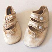 Adorable Victorian Baby Mary Jane Shoes