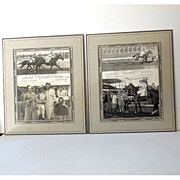 "(2) Original 1940s Race Horse Photographs ""Sis Humboldt"""
