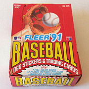 Unopened Box 36 Packs 1991 Fleer Baseball Cards