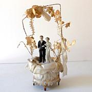 Pretty 1930s-40s Wedding Cake Top Bride & Groom