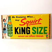 1960 Squirt Soda Pop Store Window Advertising Display