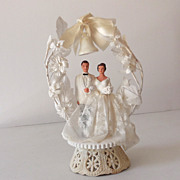 SOLD Lovely Vintage 1950s Wedding Cake Topper Never Used