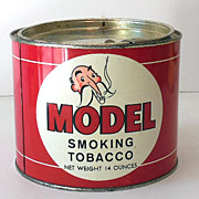 Large Colorful Model Tobacco Advertising Tin