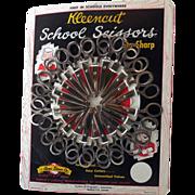 SALE Vintage School Scissors Store Display with Scissors
