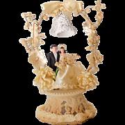 Fancy 1948 Wedding Cake Topper Bride and Groom