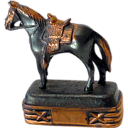 Small Vintage Abbotsware Metal Horse