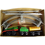 Vintage Wind Up Cragstan Tin Train With Track In Orig Box