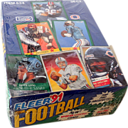 1991 Factory Sealed Fleer Football Wax Box 36 packs