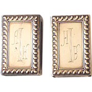Pair Of Vintage Sterling Silver Match Safes