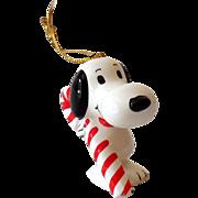 Vintage Peanuts Gang Snoopy Ceramic Ornament