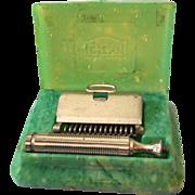 Early GEM Safety Razor in Original Celluloid Box