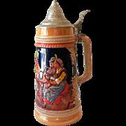 Vintage Signed Gerz Lidded Beer Stein Made in Germany