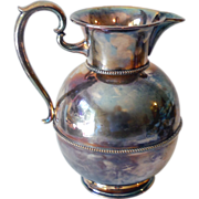 LARGE Keystoneware Silver Plated Water Pitcher