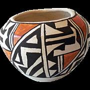 Vintage Acoma Indian Hand Made Clay Pot