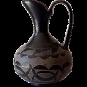 HUGE Early San Ildefonso Pueblo Black on Black Pottery Ewer