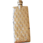 Silver Plated Miniature Perfume Bottle Flask