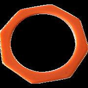 SALE Rich Caramel BAKELITE Octagon Spacer Bracelet