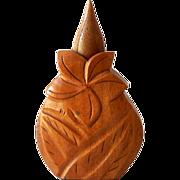 SOLD Vintage 1940s Wood Hawaiian Perfume Bottle Holder