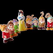SOLD Complete Set Disney Snow White & 7 Dwarfs Japan