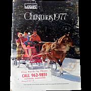 1977 Montgomery Ward Christmas Catalog TOYS! Polyester!