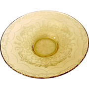Large  Federal Madrid Yellow Depression Glass Bowl