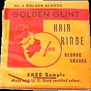 Unusual Vintage Hair Rinse Hair Tint Sample