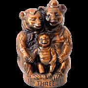 "Vintage Metal Still Coin Bank ""The Three Bears"""