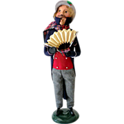 Tall Byers Choice 1991 Christmas Man With Accordion