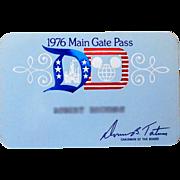 1976 Disneyland Main Gate Pass